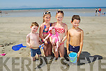 Dillon Costello, Lauren Costello, Lexi Boyle, Chloe Boyle and Evan Boyle, From Ballyduff enjoying Ballyheigue Beach in the Sunshine.