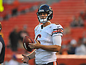CLEVELAND, OH - SEPTEMBER 1, 2016: Quarterback Jay Cutler #6 of the Chicago Bears stands on the field prior to a game on September 1, 2016 against the Cleveland Browns at FirstEnergy Stadium in Cleveland, Ohio. Chicago won 21-7. (Photo by: 2016 Nick Cammett/Diamond Images)  *** Local Caption *** Jay Cutler