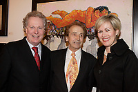 Oct 2006 file -<br /> Jean Charest, Quebec Premier (L)<br />  J C de Vilallonga (M), <br /> Michele Dionne (R)<br /> <br /> Internationally  know artist J C de Vilallonga donated recent painting for a benefit sales for tyhose with mental disabilities, held at Parisian laundry in <br /> Montreal, canada.<br /> <br /> Charest was elected for the first time  April 14 2003, he is seeking a 3rd term in the  Quebec provincial election which will be held Dec 14, 2008.<br /> <br /> photo : (c) 2005 Images Distribution
