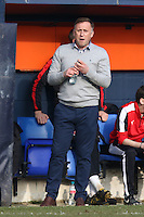 Mark Yates of Crawley Town during the Sky Bet League 2 match between Luton Town and Crawley Town at Kenilworth Road, Luton, England on 12 March 2016. Photo by David Horn/PRiME Media Images.