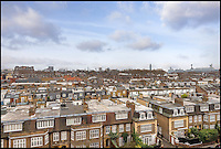 BNPS.co.uk (01202 558833)<br /> Pic: AlexWinship/Strutt&amp;Parker/BNPS<br /> <br /> The view from the flat.<br /> <br /> The home from which Margaret Thatcher raised her young family before making the momentous decision to return to politics has emerged for sale. <br /> <br /> The Iron Lady lived at the two bedroom flat in Chelsea, London, which is now worth &pound;1.235million, with new husband Dennis and their twins between 1951 and 1957. <br /> <br /> During her time at 112 Swan Court she refrained from politics in order to focus on her children and home, having already made two failed attempts at becoming an MP. <br /> <br /> The property, which is located just off the Kings Road and boasts spectacular views over the city, is for sale through estate agents Strutt &amp; Parker.