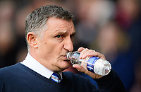 Blackburn Rovers manager Tony Mowbray takes a drink of water<br /> <br /> Photographer Chris Vaughan/CameraSport<br /> <br /> The EFL Sky Bet Championship - Sheffield United v Blackburn Rovers - Saturday 29th December 2018 - Bramall Lane - Sheffield<br /> <br /> World Copyright © 2018 CameraSport. All rights reserved. 43 Linden Ave. Countesthorpe. Leicester. England. LE8 5PG - Tel: +44 (0) 116 277 4147 - admin@camerasport.com - www.camerasport.com