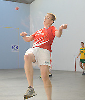 21st September 2013; Daniel Relihan, Cork, in action in the minor doubles final. GAA Handball, All-Ireland Finals, Broadford Handball Club, Co Limerick. Picture credit: Tommy Grealy/actionshots.ie.