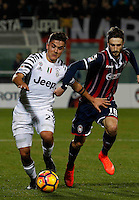 Paulo Dyabala  and Andrea Barberis  during the  italian serie a soccer match,between Crotone and Juventus      at  the Scida   stadium in Crotone  Italy , February 08, 2017