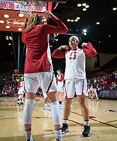 STANFORD, CA - February 22, 2019: Jenna Brown, Lexie Hull at Maples Pavilion. The Stanford Cardinal defeated the Arizona Wildcats 56-54.