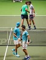 Rotterdam, The Netherlands, 17 Februari 2019, ABNAMRO World Tennis Tournament, Ahoy, Final, Doubles, Jeremy Chardy (FRA) / Henri Kontinen (FIN) vs Jean-Julien Rojer (NED) / Horia Tecau (ROU), <br /> Photo: www.tennisimages.com/Henk Koster