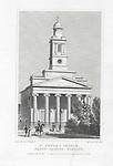Saint Peter church Eaton Square Pimlico, engraving from 'Metropolitan Improvements, or London in the Nineteenth Century' London, England, UK 1828