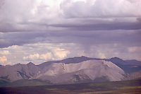Richardson Mountains along Dempster Highway (Hwy 8), NWT, Northwest Territories, Arctic Canada - Stormy Weather