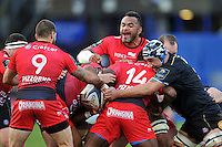 Jocelino Suta of Toulon in action at a maul. European Rugby Champions Cup match, between Bath Rugby and RC Toulon on January 23, 2016 at the Recreation Ground in Bath, England. Photo by: Patrick Khachfe / Onside Images