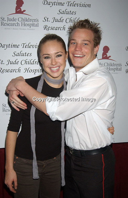 ..Lindsey McKeon and Marty West..at the Ninth Annual Daytime Television Salutes St Jude Children's Research Hospital benefit on October 10, 2003..in New York City. Photo by Robin Platzer, Twin Images