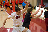 STANFORD, CA - January 2, 2018: Jake Stuebner, Stephen Moye at Burnham Pavilion. The Stanford Cardinal defeated the Calgary Dinos 3-1.