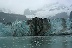 Alaska..Glacier Bay National Park, at Johns Hopkins Glacier..Cruise on Spirit of Discovery..Photo copyright Lee Foster, 510/549-2202, lee@fostertravel.com, www.fostertravel.com.