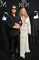 "LOS ANGELES, CA. September 04, 2018: Gene Simmons & Shannon Tweed at the world premiere of ""The Nun"" at the TCL Chinese Theatre, Hollywood."