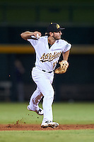 Mesa Solar Sox Max Schrock (11), of the Oakland Athletics organization, during a game against the Peoria Javelinas on October 15, 2016 at Sloan Park in Mesa, Arizona.  Peoria defeated Mesa 12-2.  (Mike Janes/Four Seam Images)