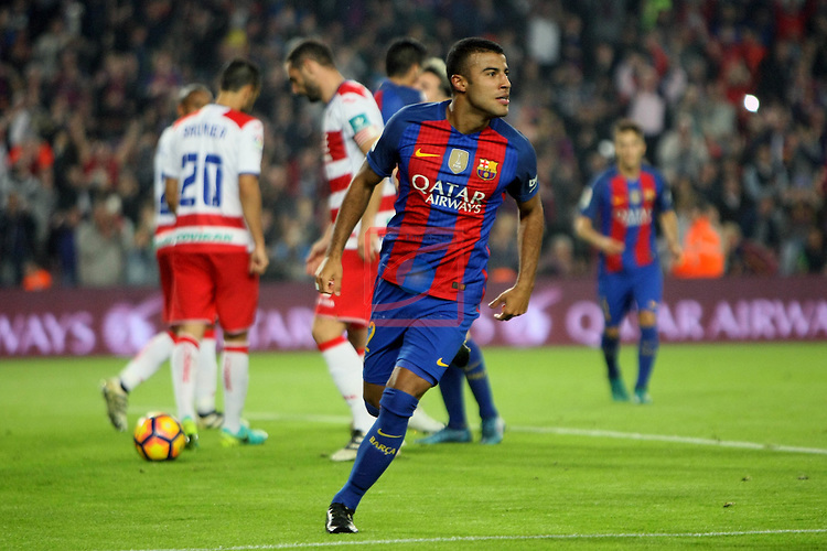 League Santander 2016/2017. Game: 10.<br /> FC Barcelona vs Granada CF: 1-0.<br /> Rafinha.