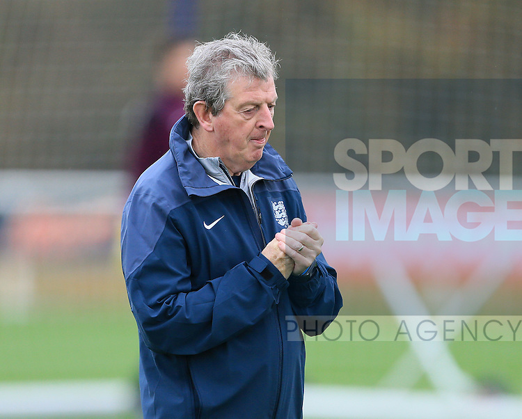 England's Roy Hodgson looks on during training<br /> <br /> England Training - Tottenham Hotspur Training Ground - England - 16th November 2015 - Picture David Klein/Sportimage