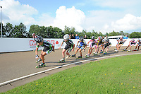 INLINE-SKATEN: HAULERWIJK: Skeelervereniging 'De Draai', 16-06-2012, Bianca Roosenboom (#19), Elma de Vries (#81), ©foto Martin de Jong