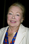 Mathilde Krim attending a performance of the new Broadway Musical, THE BOY FROM OZ at the Imperial Theater, New York City.<br />October 7, 2003