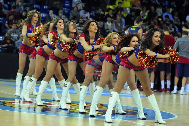 League ACB-Endesa 2014/2015 - Game: 07.<br /> FC Barcelona vs Valencia Basket Club: 76-57.<br /> Dream Cheers.