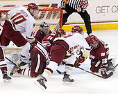 Jimmy Hayes (BC - 10), Paul Dainton (UMass - 31), Chris Davis (UMass - 11), Chris Kreider (BC - 19), Doug Kublin (UMass - 18) - The Boston College Eagles defeated the University of Massachusetts-Amherst Minutemen 5-2 on Saturday, March 13, 2010, at Conte Forum in Chestnut Hill, Massachusetts, to sweep their Hockey East Quarterfinals matchup.