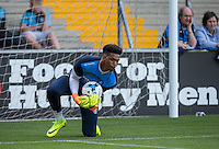 Goalkeeper Jamal Blackman of Wycombe Wanderers warms up during the Sky Bet League 2 match between Wycombe Wanderers and Accrington Stanley at Adams Park, High Wycombe, England on 16 August 2016. Photo by Andy Rowland.