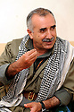 Iraq 2009.Murat Karayilan, PKK leader in his headquarter in Candil    Irak 2009 . Murat Karayilan, chef du PKK a son quartier general de Candil