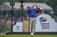 Graeme McDowell (NIR) watches his tee shot on 11 during day 3 of the Valero Texas Open, at the TPC San Antonio Oaks Course, San Antonio, Texas, USA. 4/6/2019.<br /> Picture: Golffile | Ken Murray<br /> <br /> <br /> All photo usage must carry mandatory copyright credit (© Golffile | Ken Murray)