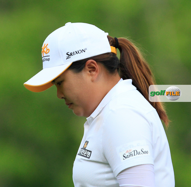 Inbee Park (KOR) on the 2nd tee during Round 4 of the HSBC Women's Champions at the Sentosa Golf Club, The Serapong Course in Singapore on Sunday 8th March 2015.<br /> Picture:  Thos Caffrey / www.golffile.ie