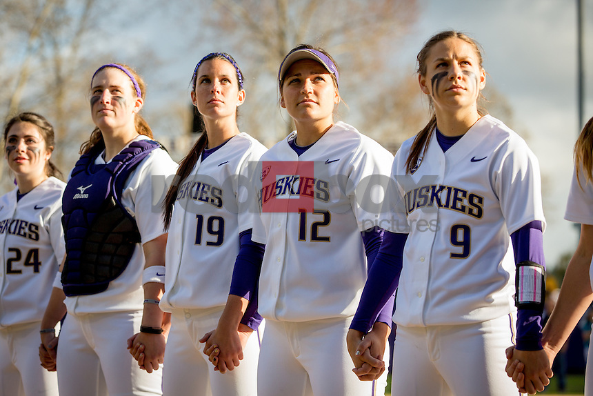 The University of Washington softball team defeats Utah  5-2 on Friday March 14, 2014.(Photo by Scott Eklund/Red Box Pictures)