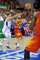 Spain's RODRIGUEZ, Sergio during 2014 FIBA Basketball World Cup Group Phase-Group A, match Serbia vs Spain. Palacio  Deportes of Granada. September 4,2014. (ALTERPHOTOS/Raul Perez)