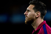 9th September 2017, Camp Nou, Barcelona, Spain; La Liga football, Barcelona versus Espanyol; Leo Messi from Argentina of FC Barcelona moments before start the match