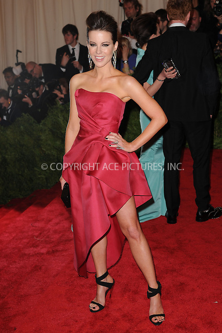 WWW.ACEPIXS.COM . . . . . .May 6, 2013...New York City....Kate Beckinsale attending the PUNK: Chaos to Couture Costume Institute Benefit Gala at The Metropolitan Museum of Art in New York City on May 6, 2013  in New York City ....Please byline: Kristin Callahan...ACEPIXS.COM...Ace Pictures, Inc: ..tel: (212) 243 8787 or (646) 769 0430..e-mail: info@acepixs.com..web: http://www.acepixs.com .