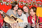 MUSIC MAKERS: Hitting the high notes during rehersals for the Rathmore Panto Puss 'N Boots on Thursday last were Norina Nagle, Marie Murphy, Alanna O'Leary and Christina Pinkaow.    Copyright Kerry's Eye 2008