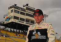 Apr 16, 2009; Avondale, AZ, USA; NASCAR Camping World Series West driver Austin Dillon during qualifying prior to the Jimmie Johnson Foundation 150 at Phoenix International Raceway. Mandatory Credit: Mark J. Rebilas-