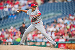 21 May 2014: Cincinnati Reds starting pitcher Alfredo Simon on the mound against the Washington Nationals at Nationals Park in Washington, DC. The Reds edged out the Nationals 2-1 to take the rubber match of their 3-game series. Mandatory Credit: Ed Wolfstein Photo *** RAW (NEF) Image File Available ***
