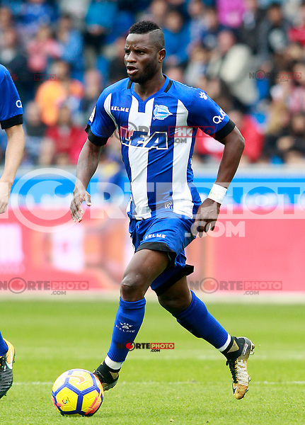 Deportivo Alaves' Wakaso Mubarak during La Liga match. October 28,2017. (ALTERPHOTOS/Acero) /NortePhoto.com