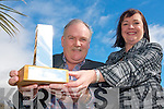 Brian de Staic with his wife Mairead who made the award for this years Dingle Film Festival