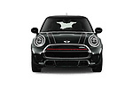 Car photography straight front view of a 2019 MINI Cooper John-Cooper-Works-Hardtop Door Hatchback Front View