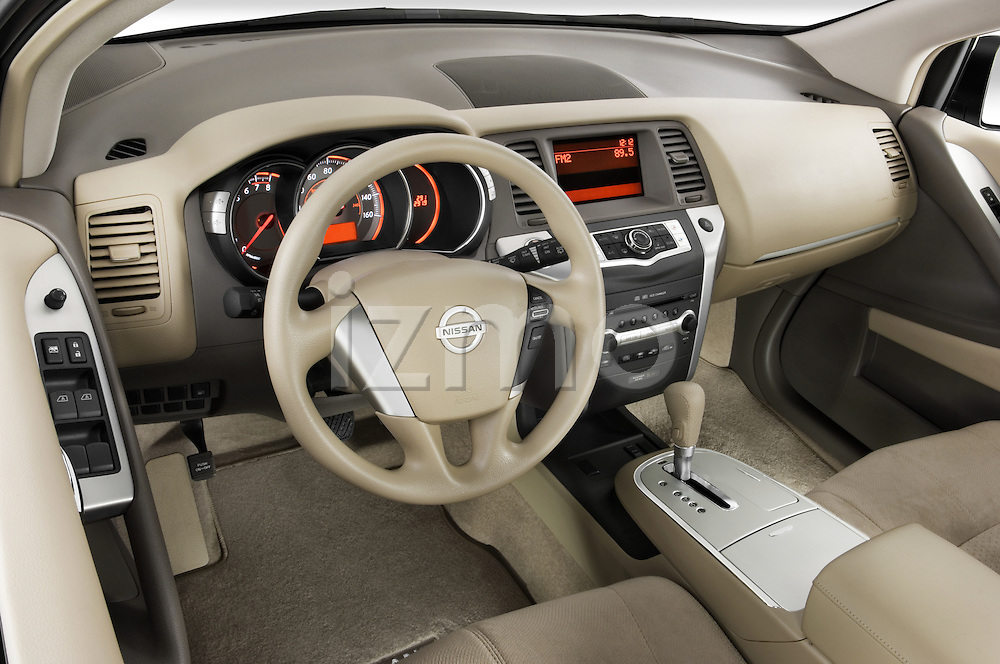 High angle dashboard view of a 2009 Nissan Murano