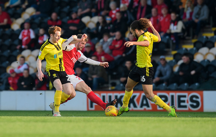 Fleetwood Town's Jack Sowerby vies for possession with Burton Albion's Stephen Quinn, left, and Burton Albion's Marcus Harness<br /> <br /> Photographer Chris Vaughan/CameraSport<br /> <br /> The EFL Sky Bet League One - Saturday 23rd February 2019 - Burton Albion v Fleetwood Town - Pirelli Stadium - Burton upon Trent<br /> <br /> World Copyright © 2019 CameraSport. All rights reserved. 43 Linden Ave. Countesthorpe. Leicester. England. LE8 5PG - Tel: +44 (0) 116 277 4147 - admin@camerasport.com - www.camerasport.com