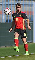 20170323 - BEVEREN , BELGIUM : Belgian Christophe Janssens pictured during the UEFA Under 19 Elite round game between Sweden U19 and Belgium U19, on the first matchday in group 7 of the Uefa Under 19 elite round in Belgium , thursday 23 th March 2017 . PHOTO SPORTPIX.BE | DIRK VUYLSTEKE