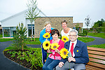 Launching Hospice Sunflower Day on Friday and Saturday 9th and 10th of June outside the New wing of the palliative care unit on Monday were Andrea O'Donoghue, PRO, Mary Shanahan, Committee Member, Maura Sullivan, Treasurer, Ted Moynihan (chairman Kerry Hospice Foundation),