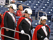 Washington, DC - April 17, 2008 -- Unidentified members of the Knights of Columbus file into Nationals Park in anticipation of the arrival of Pope Benedict XVI, who will celebrate Mass in Washington, D.C. on Thursday, April 17, 2008. This is the first non-baseball event in the park, which opened March 31..Credit: Ron Sachs / CNP.(RESTRICTION: NO New York or New Jersey Newspapers or newspapers within a 75 mile radius of New York City)