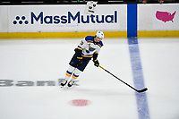 June 6, 2019: St. Louis Blues center Oskar Sundqvist (70)  warms up before game 5 of the NHL Stanley Cup Finals between the St Louis Blues and the Boston Bruins held at TD Garden, in Boston, Mass. The Blues defeat the Bruins 2-1 in regulation time. Eric Canha/CSM