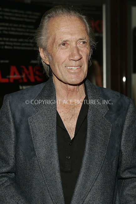 WWW.ACEPIXS.COM . . . . . ....February 10 2009, Hollywood....David Carradine at a screening of 'Polanski Unauthorized' at the Laemmle's Sunset 5 Theaters on February 10, 2009 in West Hollywood, California.....Please byline: JOE WEST- ACEPIXS.COM.. . . . . . ..Ace Pictures, Inc:  ..(646) 769 0430..e-mail: info@acepixs.com..web: http://www.acepixs.com