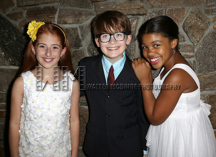 Elainey Bass, Jake Lucas, and Julianna Rigoglioso attending the Opening After Party for the Playwrights Horizons World Premiere production of the new musical 'FAR FROM HEAVEN' at Tir Na Nog Irish Pub & Grill  in New York City on June 02, 2013.