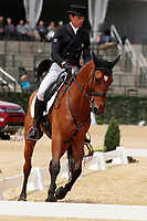 LEXINGTON, KY - April 27, 2017. #24 Qalao Des Mers and Maxime Livio from France finish 3rd on the first day of the Dressage test at the Rolex Three Day Event at the Kentucky Horse Park.  Lexington, Kentucky. (Photo by Candice Chavez/Eclipse Sportswire/Getty Images)