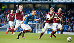 Fraser Aird running at the Arbroath defence