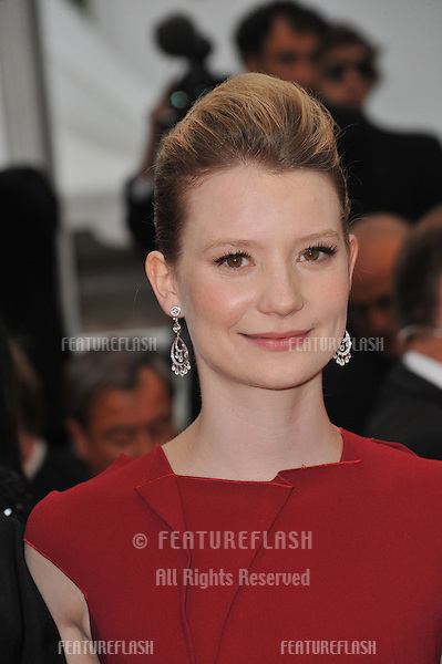 "Mia Wasikowska at the premiere of her new movie ""Restless"" in competition at the 64th Festival de Cannes..May 12, 2011  Cannes, France.Picture: Paul Smith / Featureflash"