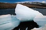 Ice in Jago River, Alaska